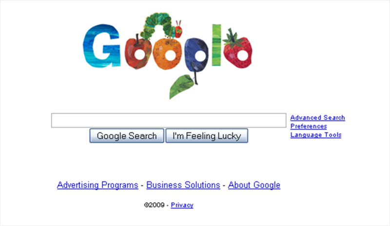 Google homepage 3-20-09